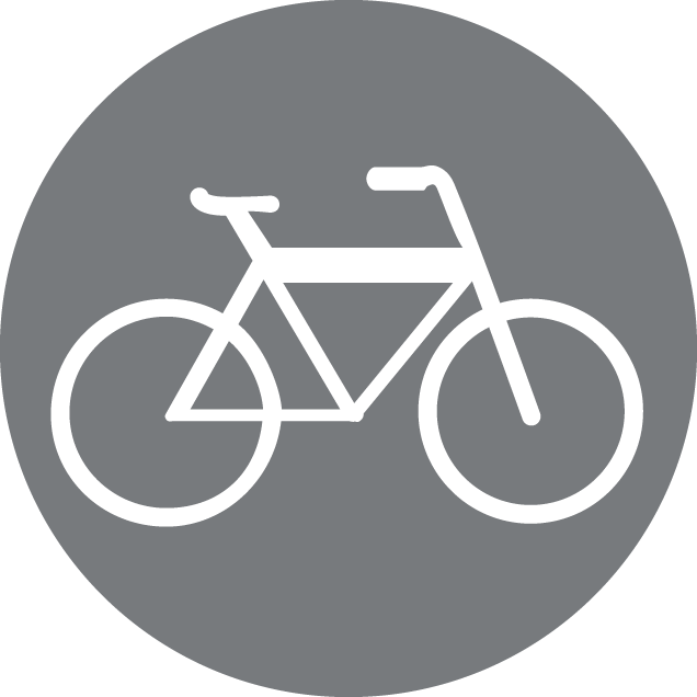 Personal property coverage Icon-image of a bike in the gray background