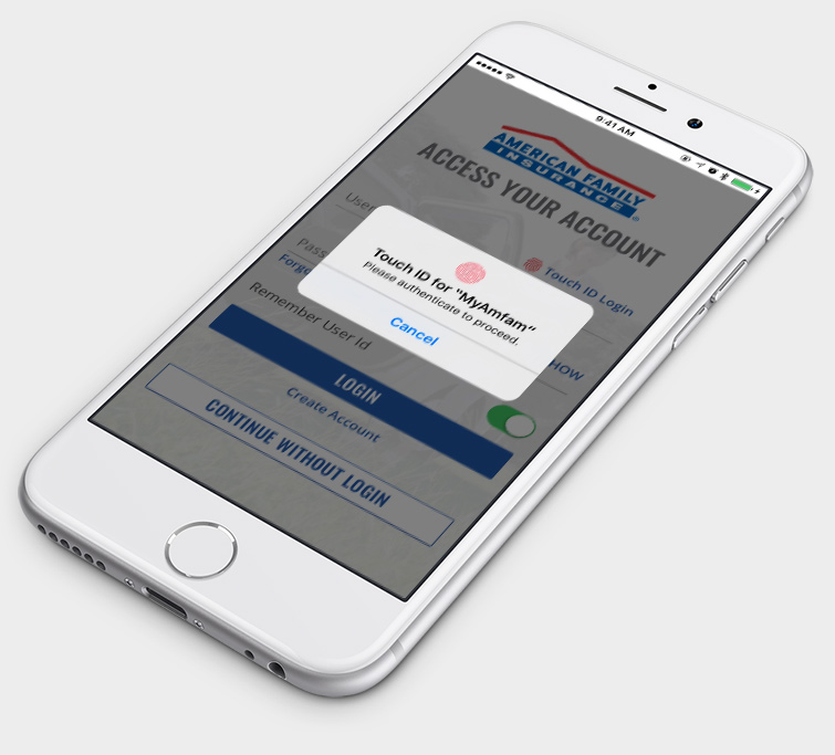 Touch ID My AmFam App