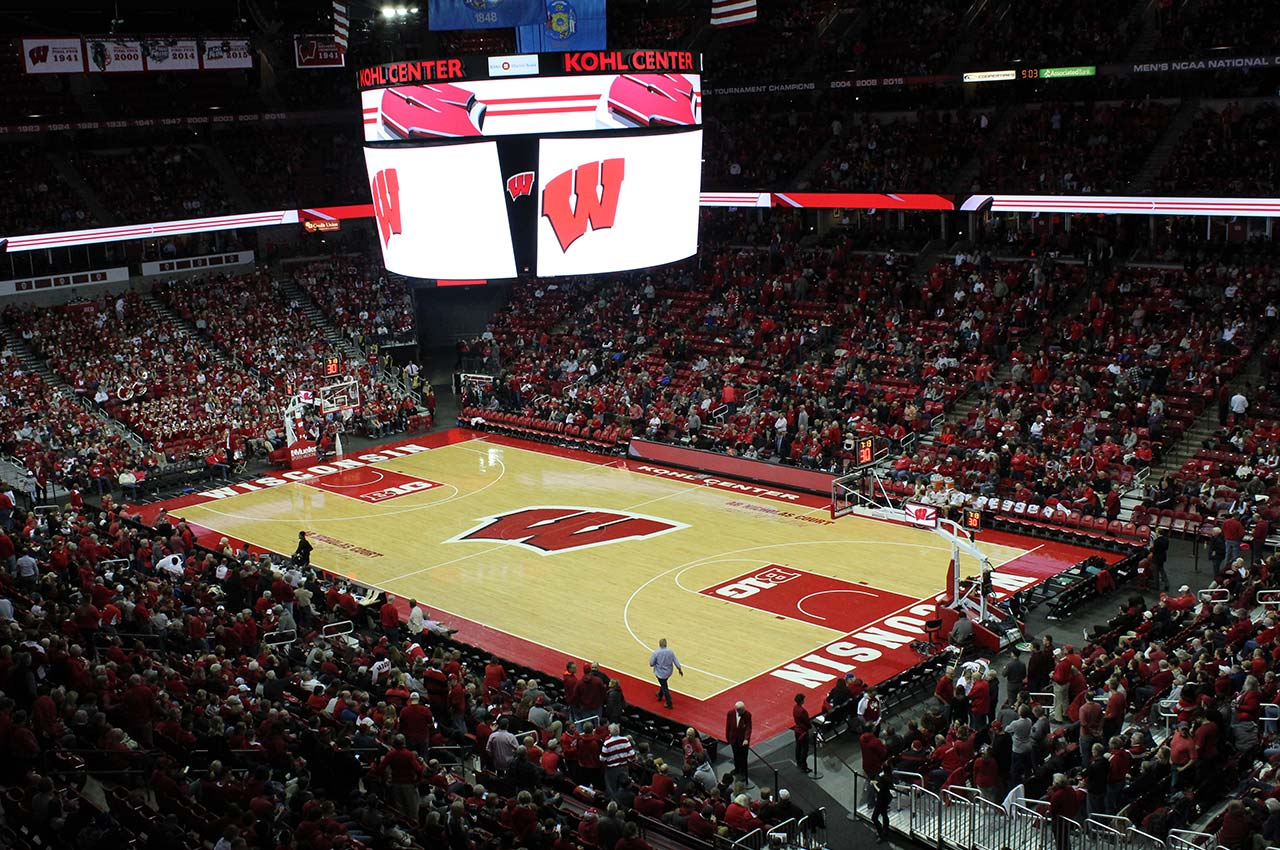 Badger basketball court