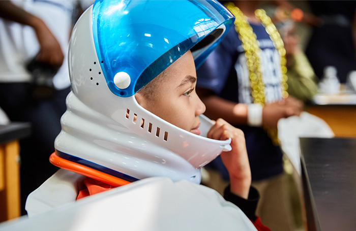 Young boy astronaut
