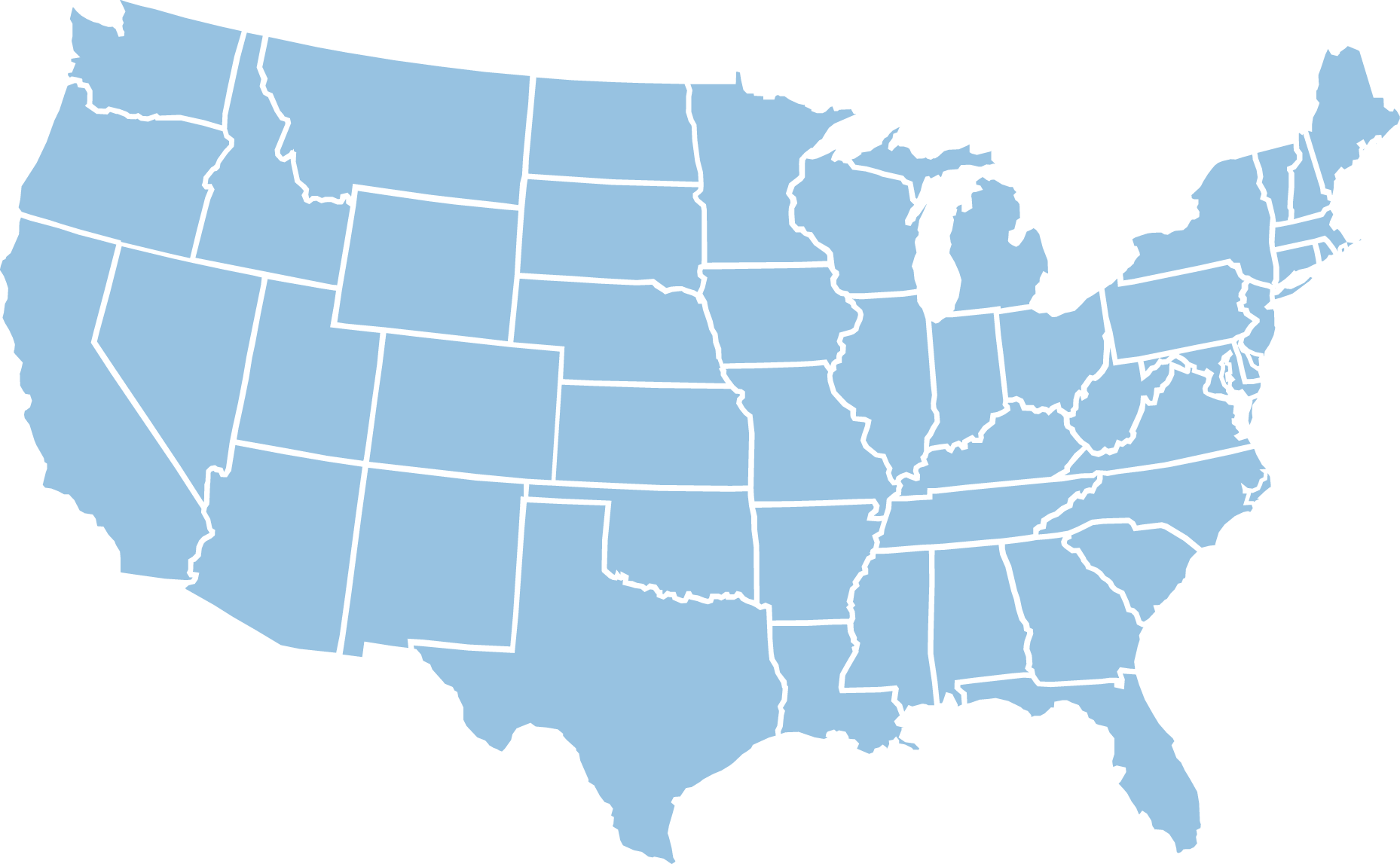 Us Map Without States Labeled Maps Of USA United States Map To - Us flat map
