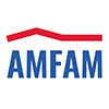 Small American Family Insurance logo abbreviated to read Am Fam