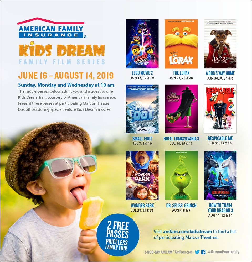 Kids dream movie series summer 2019