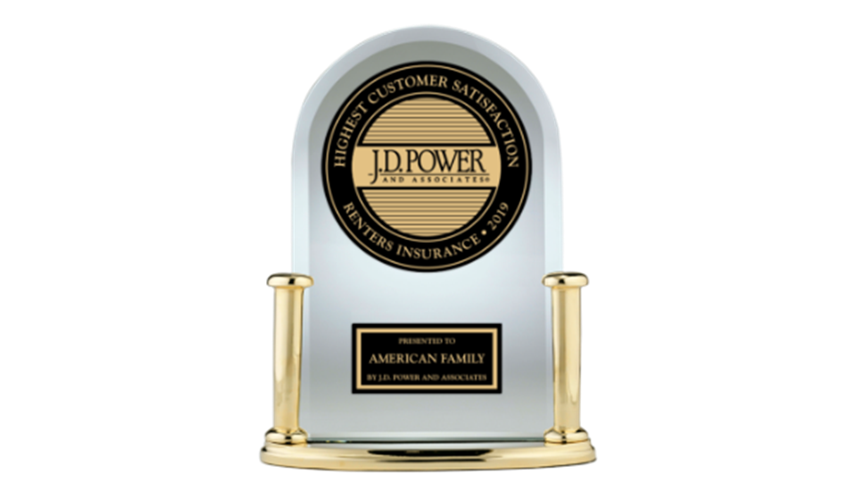 2019 J.D. Power Highest customer satisfaction award
